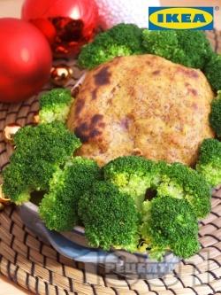 Варена шунка, глазирана с горчичен сос и запечена на фурна - снимка на рецептата